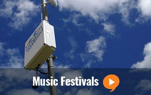 WiFi music festival event